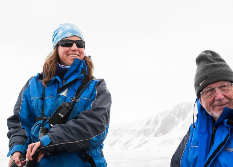 Vår guide Åsa styr kosan