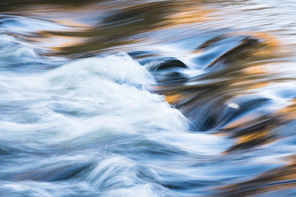 Golden streaks in the stream